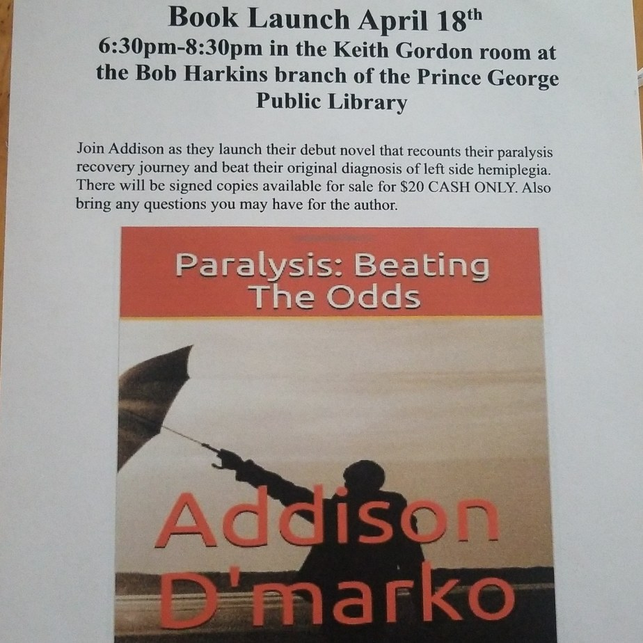 Book launch April 18th